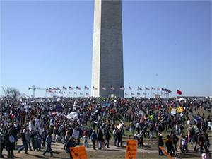 イラク攻撃反対のワシントンD.C.集会